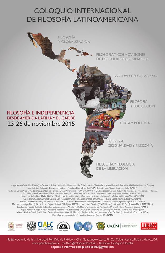 Coloquio internacional de Filosofía Latinoamericana 2015